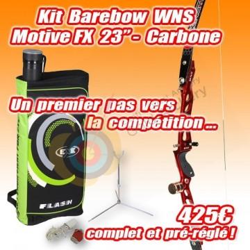 "Kit WNS Motive FX 23""carbone barebow"