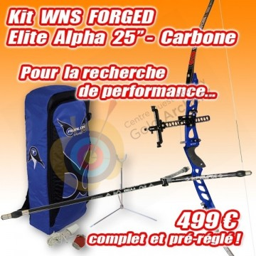 "Kit arc WNS FORGED Elite 25"" Carbone"